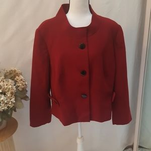 Kim Rogers deep red jacket sz 22W